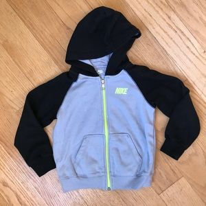Nike Black/Gray Zip Up Hoodie